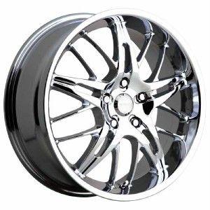 18 inch Menzari Domine Chrome Wheels Rims 5x115 35