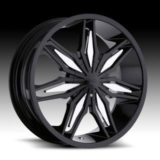 5x108 4 5 Black Milanni Wheels Rims 5 Lug Lexus Taurus Dodge