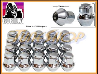 STOCK OEM FACTORY WHEEL LUG NUTS 14X1.5 M14 1.5 ACORN RIMS CHROME DOT