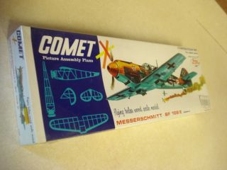 Comet Messerschmitt BF 109E Flying Balsa Wood Scale Model Airplane Kit