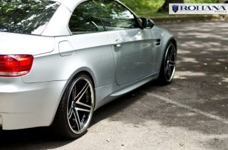 19 Rohana RC5 Staggered Wheels 5x120 Machine Face Rim Fits BMW 528i