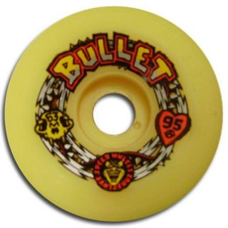 Santa Cruz Bullet Skateboard Wheels 63mm 95A Yellow