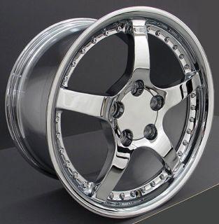 17 Rim Fits Corvette Chrome C5 Rivet Wheel 17 x 9 5
