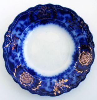 Lakewood Wood Son Flow Blue Gilded 9 Bowl 6
