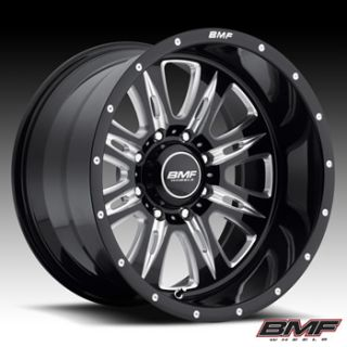 20x9 Black BMF Rehab Wheels 8x6 5 0 Hummer H2 Ford F 250 F350