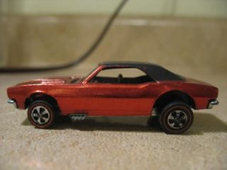 Vintage 1967 Hotwheel Redline Custom Camaro Candy Red