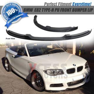 07 11 BMW E82 135 135i Black Poly Urethane Front Bumper Lip Spoiler