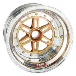 New 13 x 10 Sander 31 Spline Aluminum Wheel, 3 Offset, Sprint/Midget