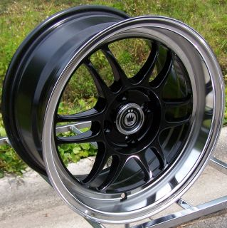 15X8 BLACK KONIG WIDEOPEN WHEELS RIMS 4X100MM +20MM SCION XB VW TOYOTA