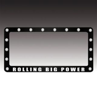 Rolling Big Power License Plate Frame RBP 122