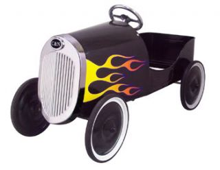 34 Classic Black Hot Rod Pedal Car Free SHIP New