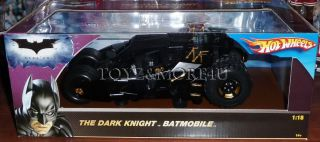 Hot Wheels 1 18 Batman Tumbler Dark Knight Batmobile