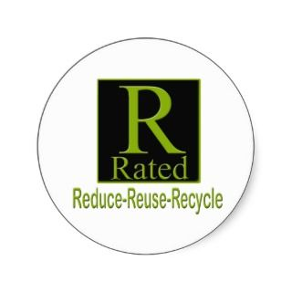 Rated Recyle Round Sticker