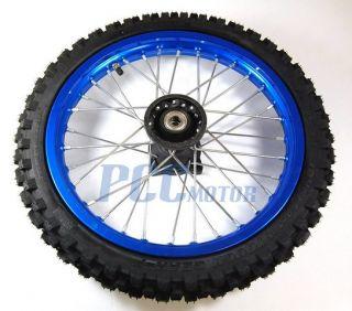 14 Front Rim Wheel Innova Tire Honda CRF50 SDG SSR 110 107 125cc Blue