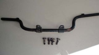 You are bidding on one used driver foot pegs and bolts as shown, fits