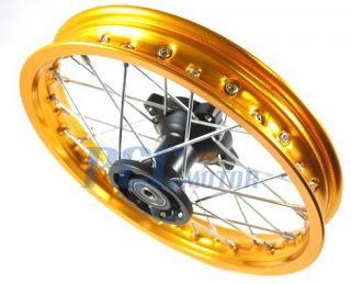Front Gold Alum Rim Wheel XR50 CRF50 XR 50 SDG SSR 125 M RM06Y