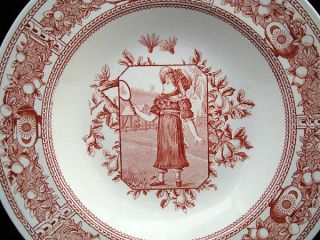 Aesthetic Movement Porridge Bowl Mother Hubbard Badmitton 1885