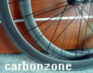 Carbon Road TT Bike Tubular Wheels Bicycle Wheelsets Matt 3K