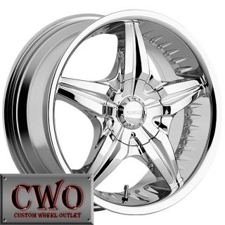 24 Chrome Creepin Wheels Rims 5x127 5x135 5 Lug Jeep Wrangler C1500