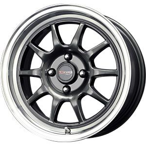 New 15x7 4x100 Drag Dr 16 Gun Metal Wheels Rims