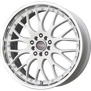 New 18x7 5 5x100 5x114 3 Drag Dr 19 White Wheels Rims