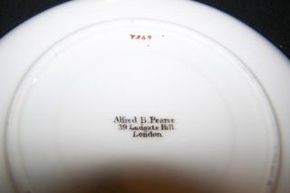 Antique Alfred B Pearce Birds Cherry Blossom Tea Set Cup Saucer Plate