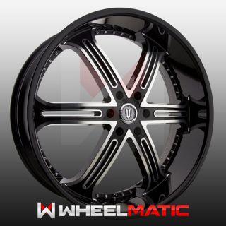 Set of 4 New 22 Versante 226 5x115 15 Wheels Rims Black