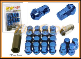 Wheels Lug Nuts 12x1 25 M12 1 25 Acorn Rim Close End 20 Blue S