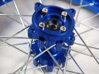 BLUE FRONT RIM WHEEL CNC HUB HONDA XR50 CRF50 SDG SSR 107 125 PIT BIKE