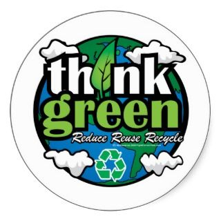 Think Green Earth Sticker