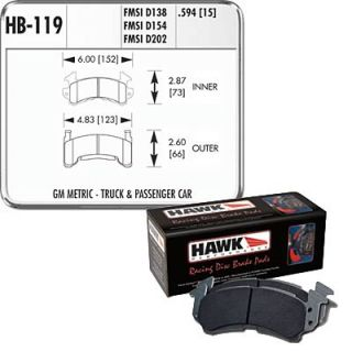 Hawk Performance Brake Pads Ferro Carbon Black Set HB119M 594