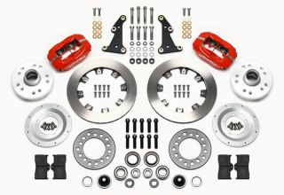 Wilwood Disc Brake Kit Front 41 56 Packard 11 75 Rotors Red Calipers