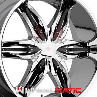 of 4 New 20 Viscera 778 6x135/139.7 +30 Wheels Rims Chrome & Black