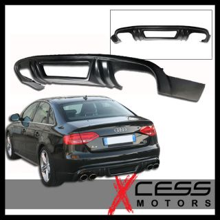 09 11 Audi A4 B8 s Line Only Black Poly Urethane Rear Bumper Lip