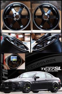 Rays TE37SL Black Edition Wheel Rim 18 18x9 5 18x10 5 BMW E82 1M E90