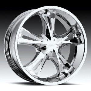 22 inch Milanni Bitchin Chrome Wheels Rims 5x112 24