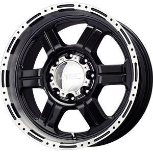 New 17X8.5 8 165.1 Off Road Gloss Black Machined Lip Wheel/Rim