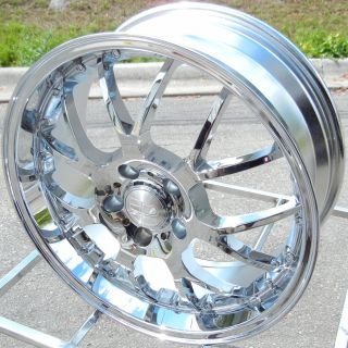 20 HD MSR CHROME WHEELS RIMS 5X4.5 114.3MM +40MM HONDA NISSAN TOYOTA