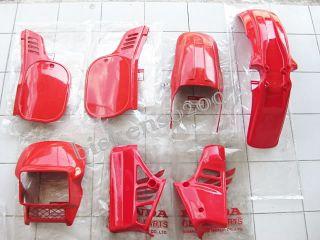 Honda MTX125 MTX 125 Plastic Cover Set Genuine Parts Red