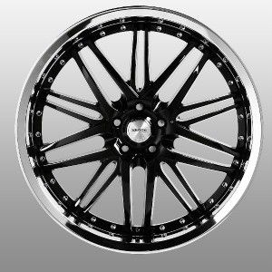 22 inch Verde Kaos Black Wheels Rims 5x115 300C Charger Magnum