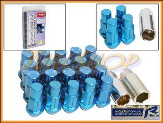Extended Wheel Lock Lug Nuts 12x1 25 1 25 Acorn Rim Dura Blue S