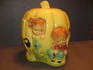 Vintage RRP Co Peter Peter Pumpkin Eater Cookie Jar