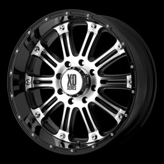 Black Machined XD Wheels Rims 6 Lug Sierra 1500 Silverado Tahoe