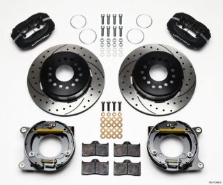 Wilwood Disc Brake Kit 55 57 Chevy 12 Drilled Rotors 6 4 Piston Black