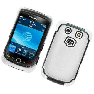 For Rim Blackberry Torch 9800 9810 Silicone Hard Dot TPU Case White