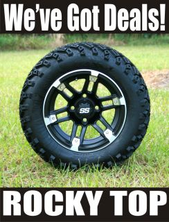 New 12x7 Barracuda Golf Cart Wheels and 22 Sahara Classic All Terrain