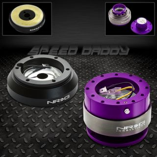 NRG Steering Wheel Short Hub Gen 2 0 Purple Quick Release 91 05 Miata