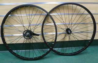 Cruiser Bike 24x1.75 Rear & Front Wheels Rims Coaster Brake Black