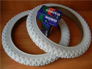 New 1 Pair 20x 2 125 White Bicycle Tires and Tubes BMX MX3 Tires