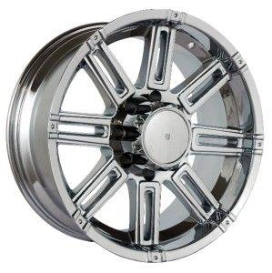 18 inch Gazario TR 471 Chrome Wheels Rim 8x6 5 RAM 3500 Hummer H2